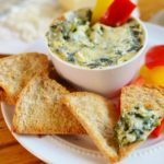 Healthy Spinach and Artichoke Dip for One {21 Day Fix}