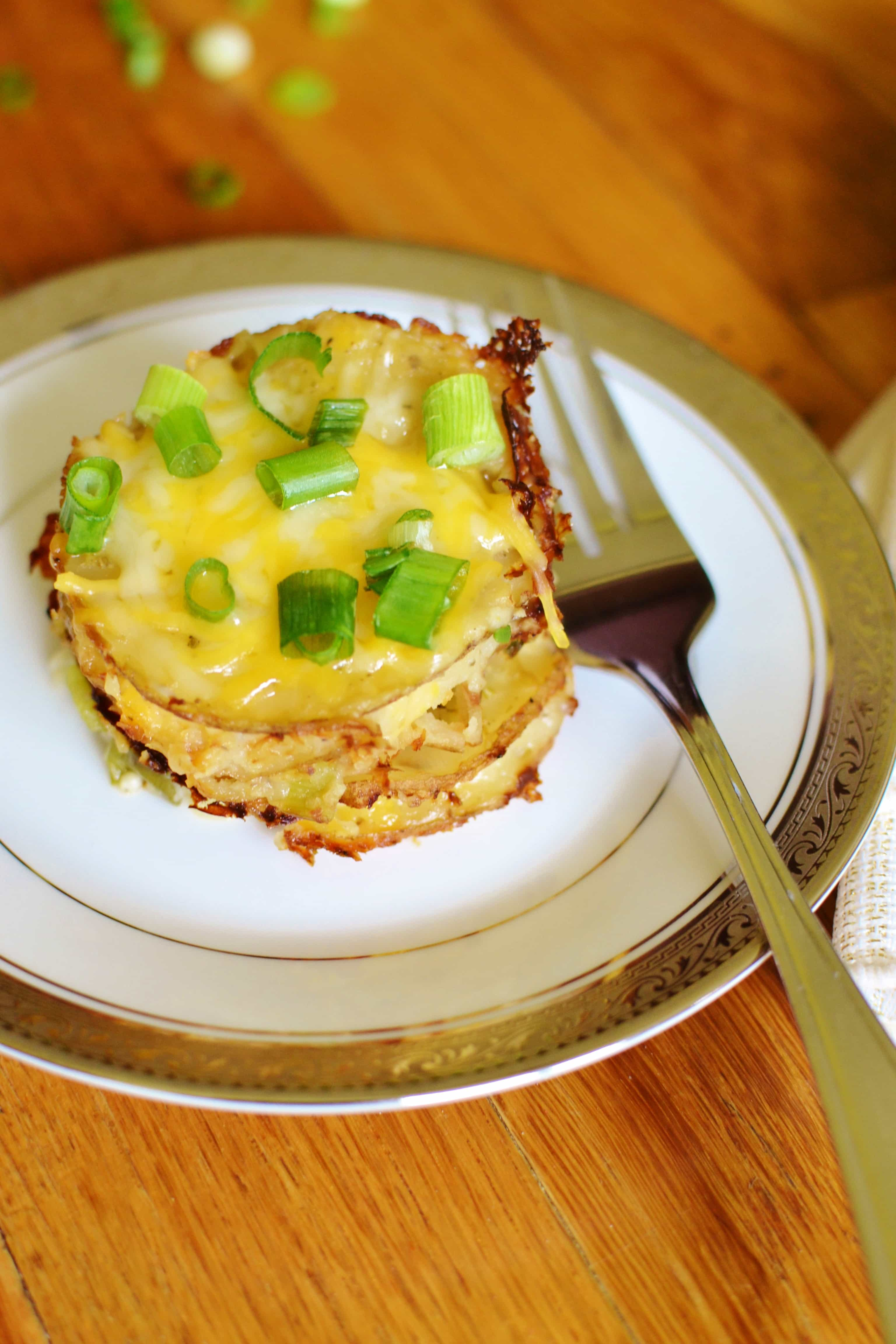 21 Day Fix Individual Potato Gratin with Cauliflower Sauce