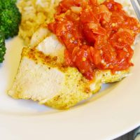 Grilled Indian Chicken with Tomato Chutney