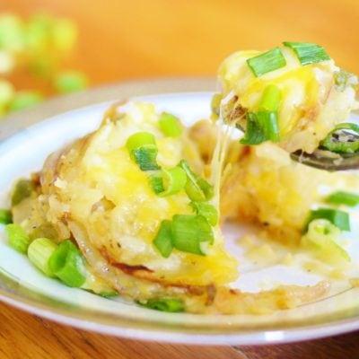 Individual Potato Gratins with Cauliflower Sauce