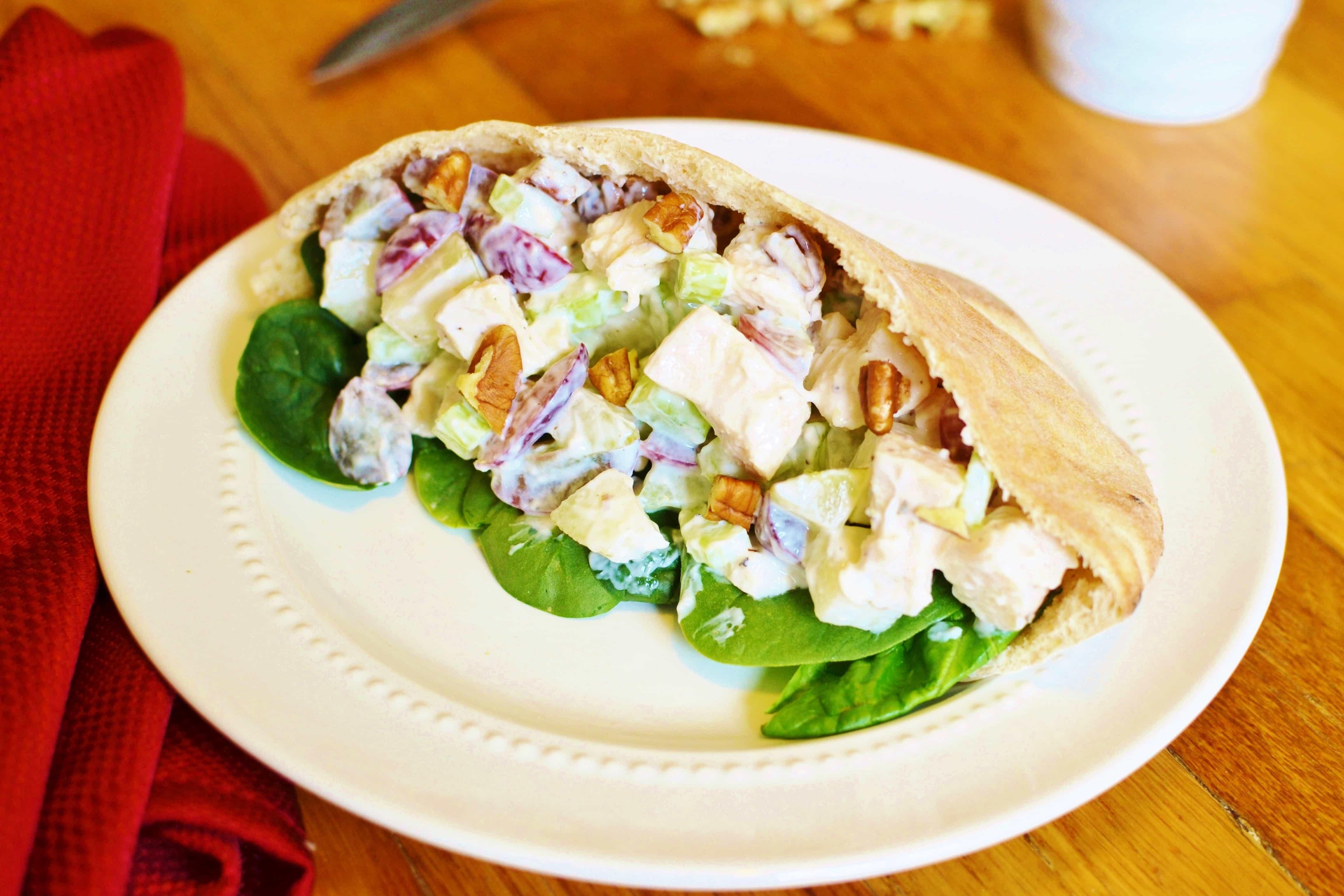 Waldorf Chicken Salad Pocket