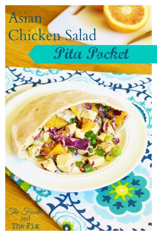 21 Day Fix Asian Chicken Salad Pita