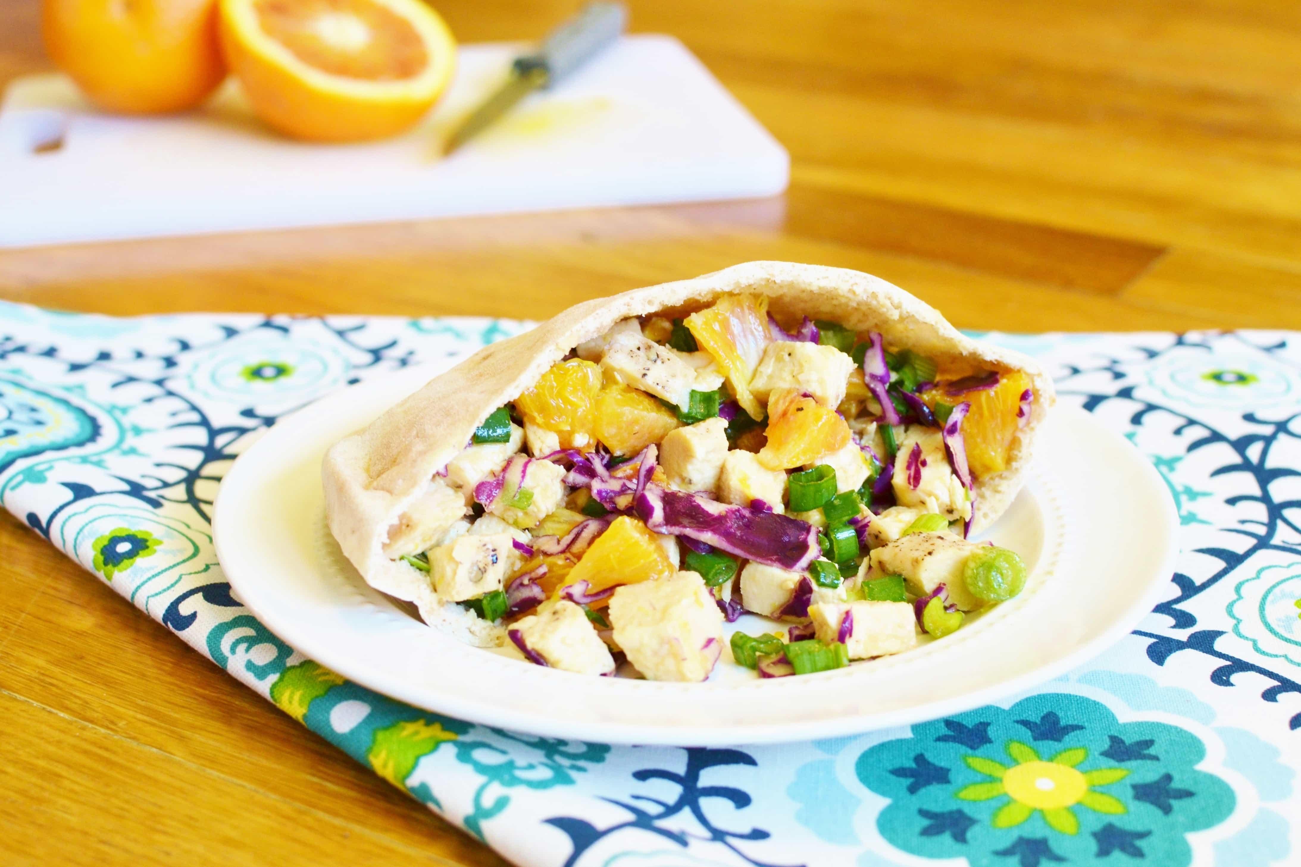 Asian Chicken Salad Pita Pocket