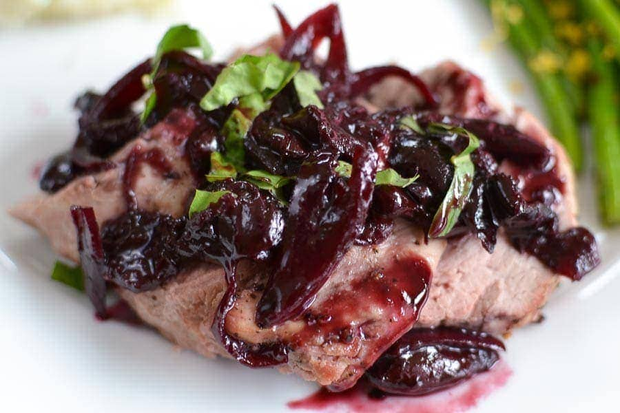 Roasted Pork Tenderloin with Balsamic-Cherry Sauce