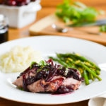 Roasted Pork Tenderloin with Cherry-Balsamic Sauce