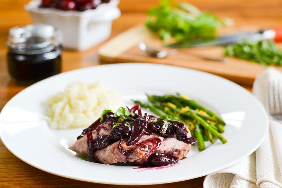 21 Day Fix Cherry Balsamic Pork