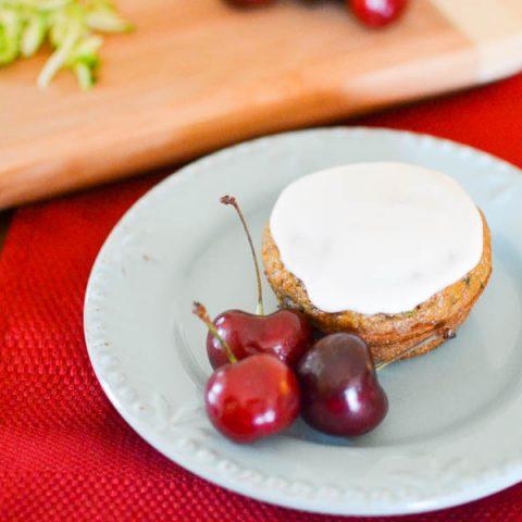 Cherry-Zucchini Muffins with Secret Ingredient Frosting