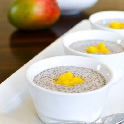 Cardamom Chia Seed Pudding with Mango