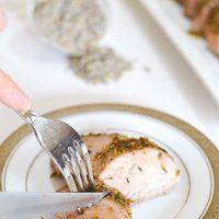 Lavender-Honey Roasted Pork Tenderloin