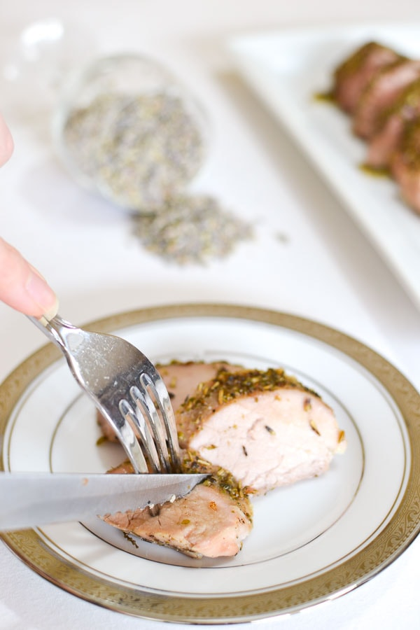 Lavender-Honey Roasted Pork Tenderloin