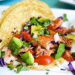21 Day Fix Salmon Tacos with Deconstructed Guacamole