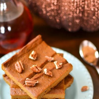 {Flourless} Pumpkin Custard Bars