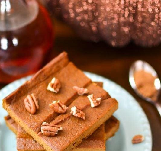 {Flourless} Pumpkin Custard Bars