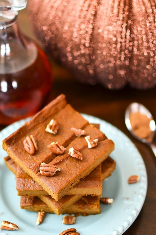 Pumpkin Custard Bars