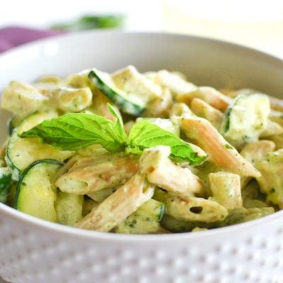 Creamy Pesto Chicken Pasta (Instant Pot | Stovetop)
