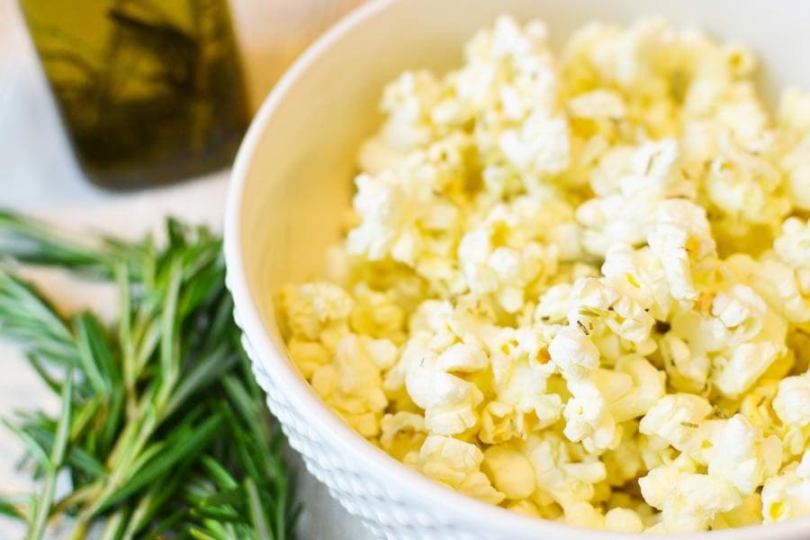 Rosemary-Pecorino Popcorn