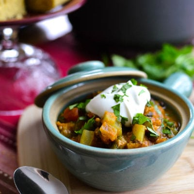 21 Day Fix Chipotle Pumpkin Turkey Chili {Instant Pot | Stove Top}