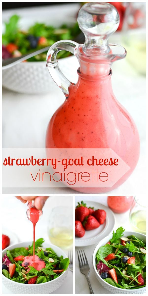 Berry Salad with Strawberry-Goat Cheese Vinaigrette & Basil
