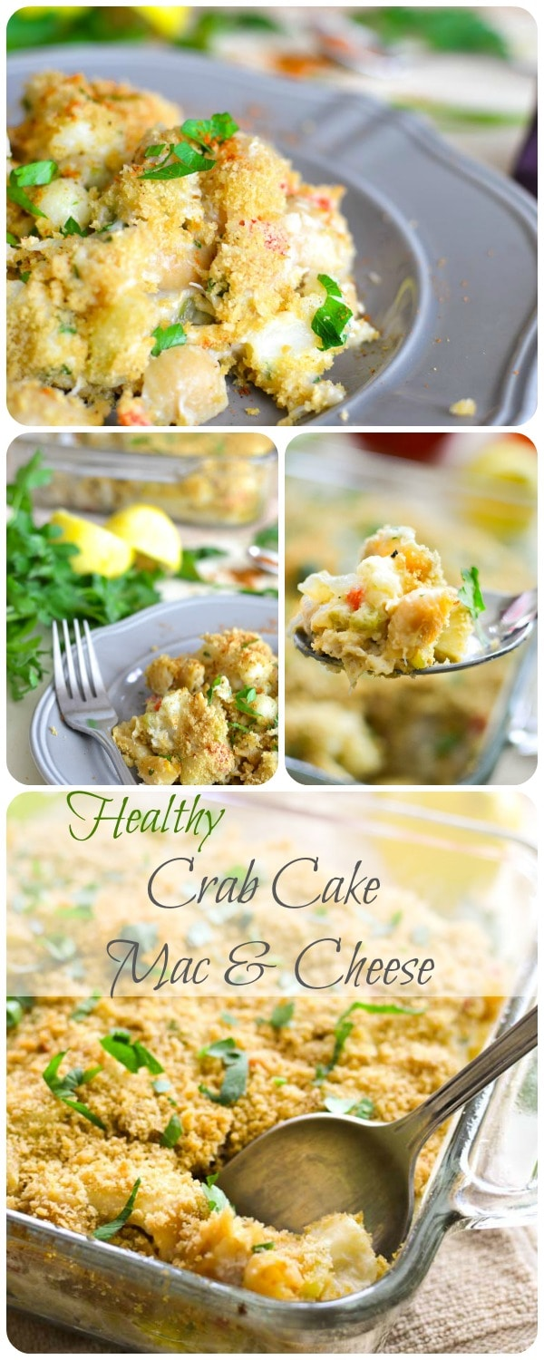 Healthy Crab Cake Mac & Cheese