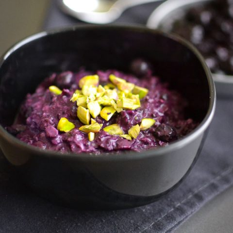 Blueberry-Pistachio Overnight Oats + The BEST Blueberry Compote You've Ever Had
