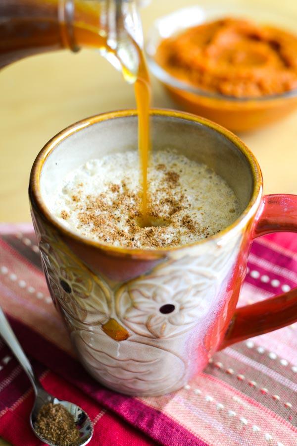 Pumpkin Spice Syrup + Boozy Pumpkin Spice Latte