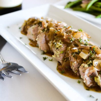 Thyme Roasted Pork Tenderloin with Garam Masala-Cider Sauce
