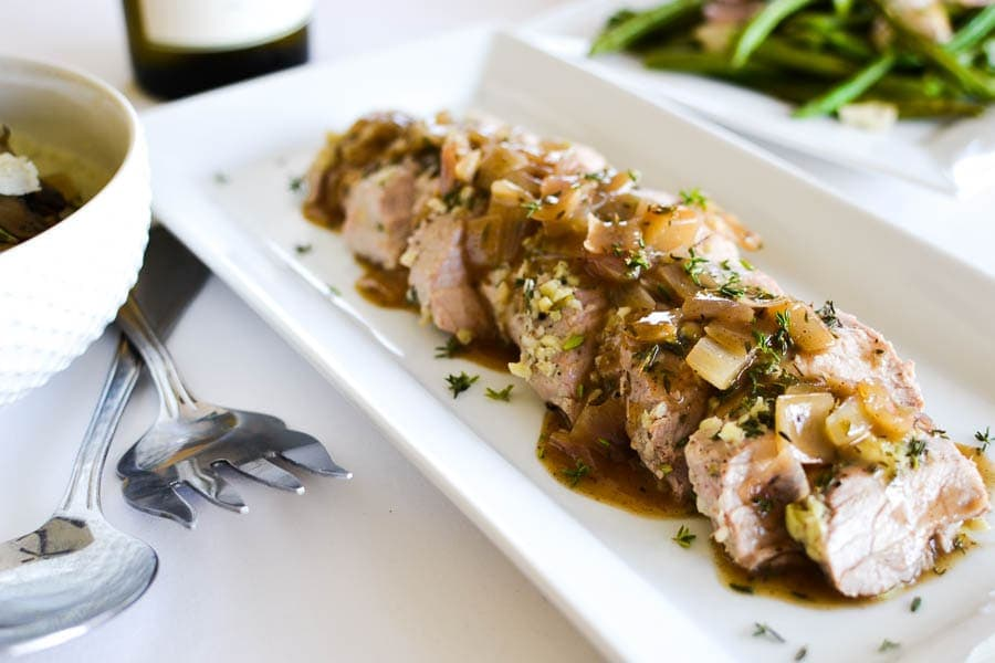 Thyme-Roasted Pork Tenderloin with Garam Masala-Cider Sauce