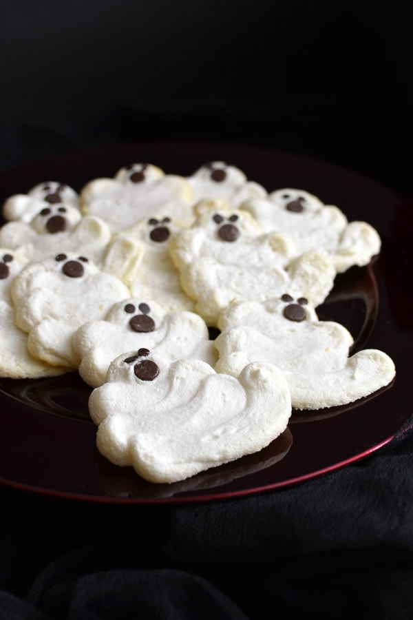 {Less Sugar} Mint Chocolate Chip Meringue Cookies