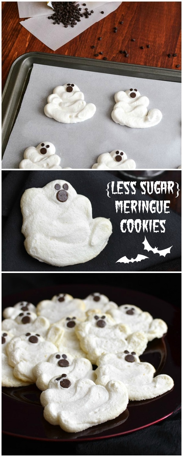 Less Sugar} Mint Chocolate Chip Meringue Cookies | The Foodie and ...
