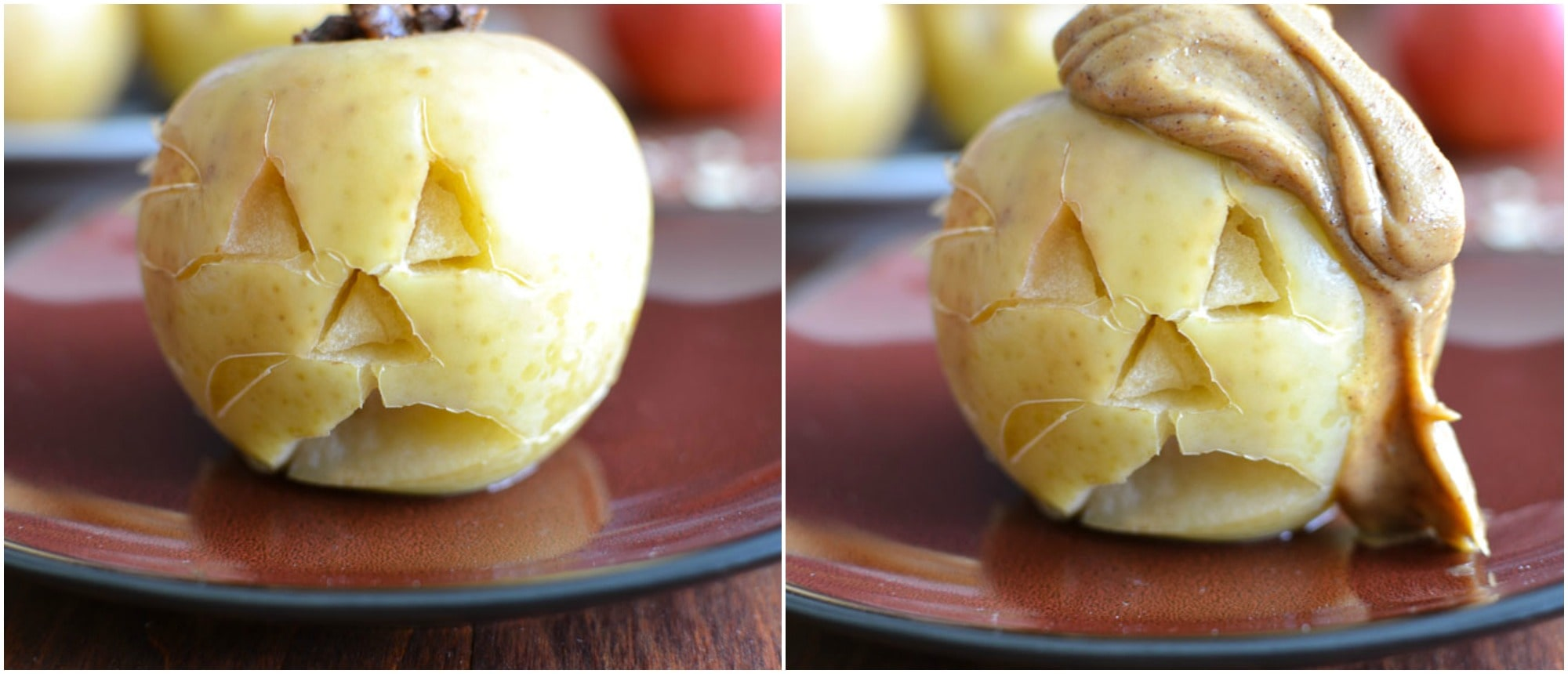 Slow-Cooker Pecan-Stuffed Apples with Cinnamon-Peanut Butter Sauce