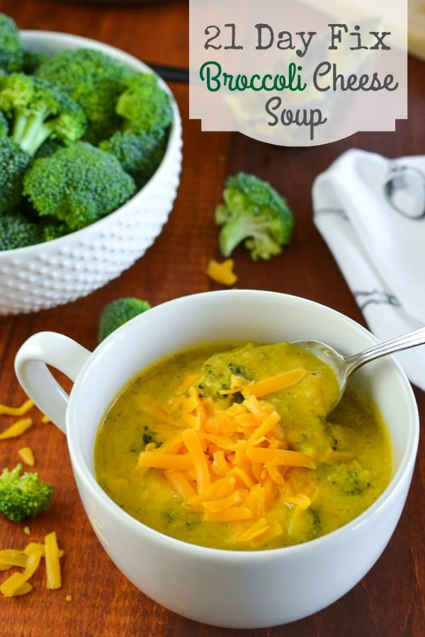 21 Day Fix Broccoli Cheese Soup