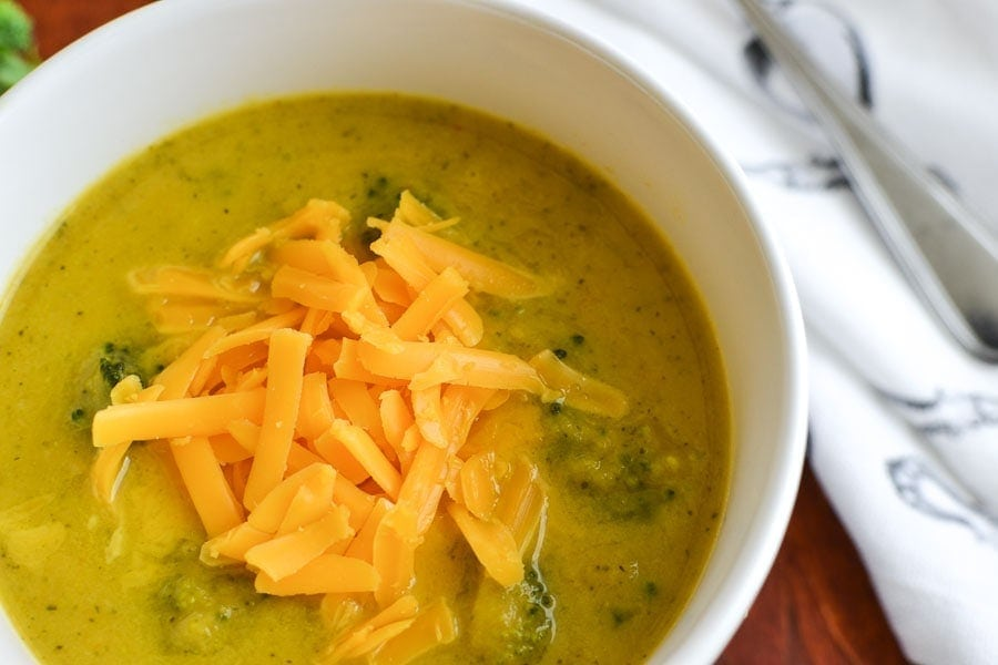 21 Day Fix Broccoli Cheese Soup {Instant Pot   Stove Top}