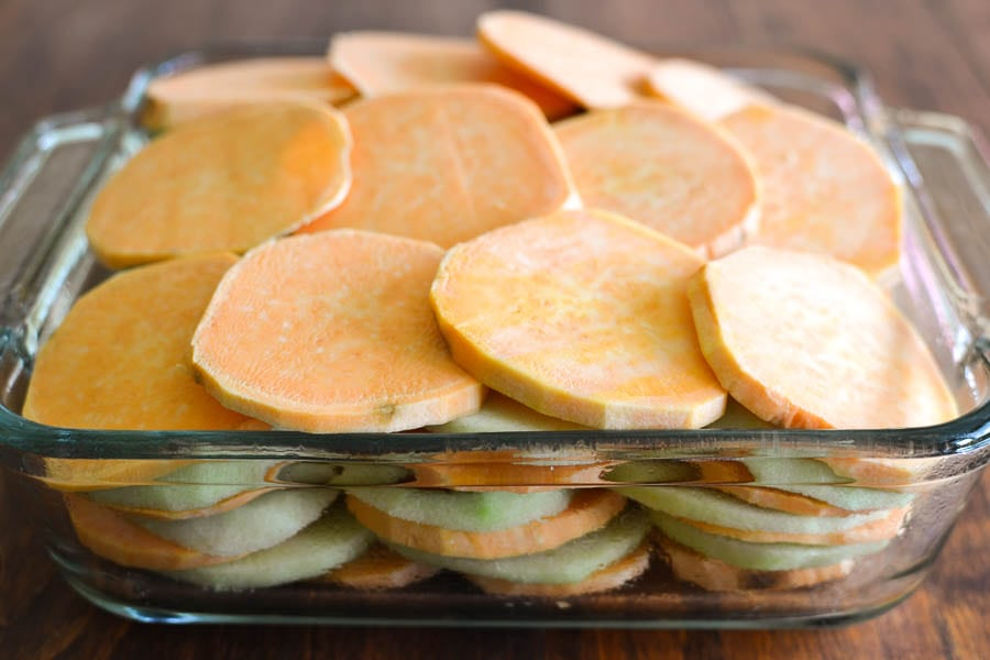 Cider-Glazed Sweet Potato and Apple Bake