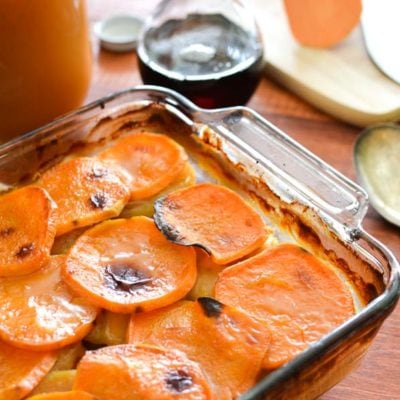 Cider-Glazed Sweet Potato and Apple Bake {21 Day Fix}
