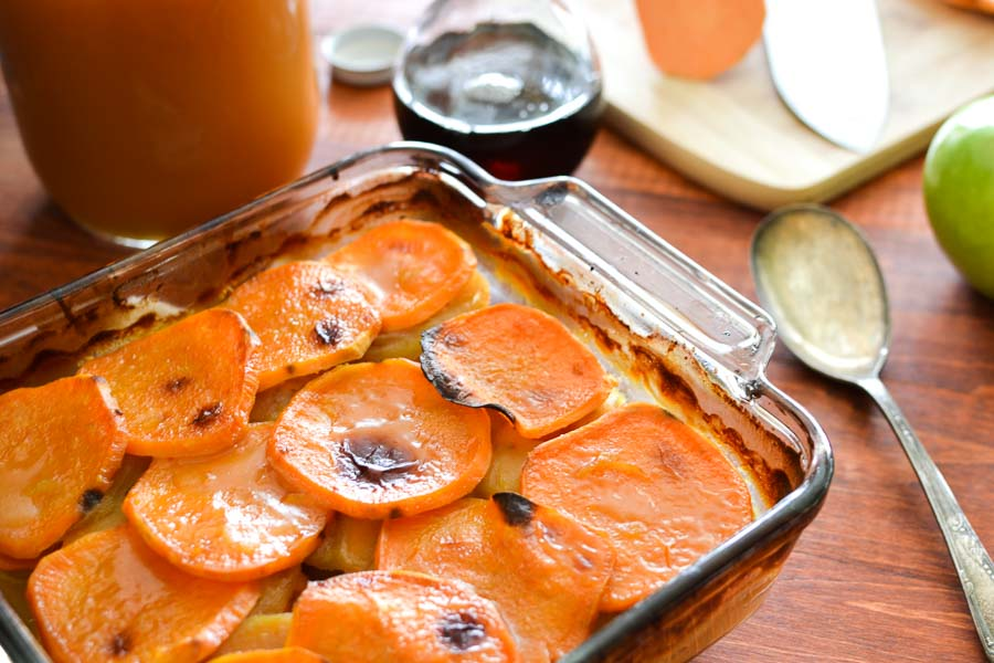 Cider-Glazed Sweet Potato and Apple Bake