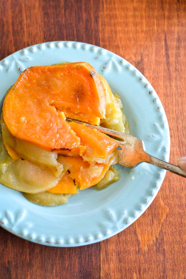 Cider-Glazed Sweet Potato & Apple Bake | The Foodie and The Fix