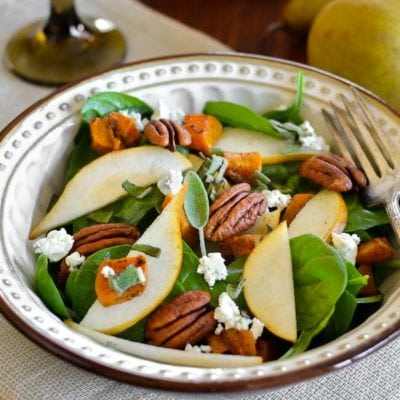 Pear and Butternut Squash Salad with Maple-Balsamic Vinaigrette