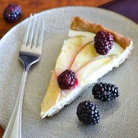Apple-Blackberry Cheesecake Tart