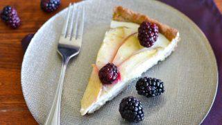 Apple-Blackberry Cheesecake Tart