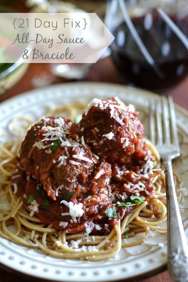 All Day Tomato Sauce + Braciole