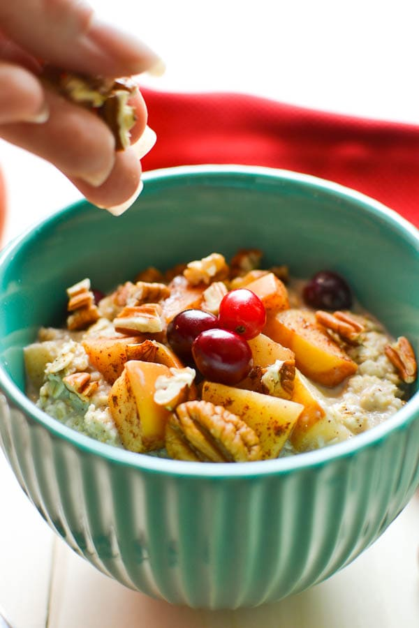 Apple-Cranberry Pie Overnight Oats