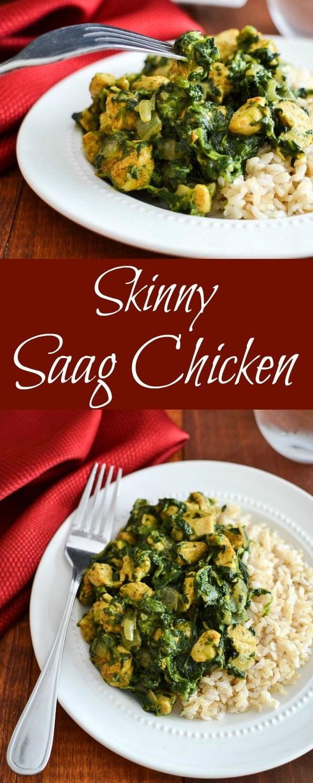 Skinny Saag Chicken