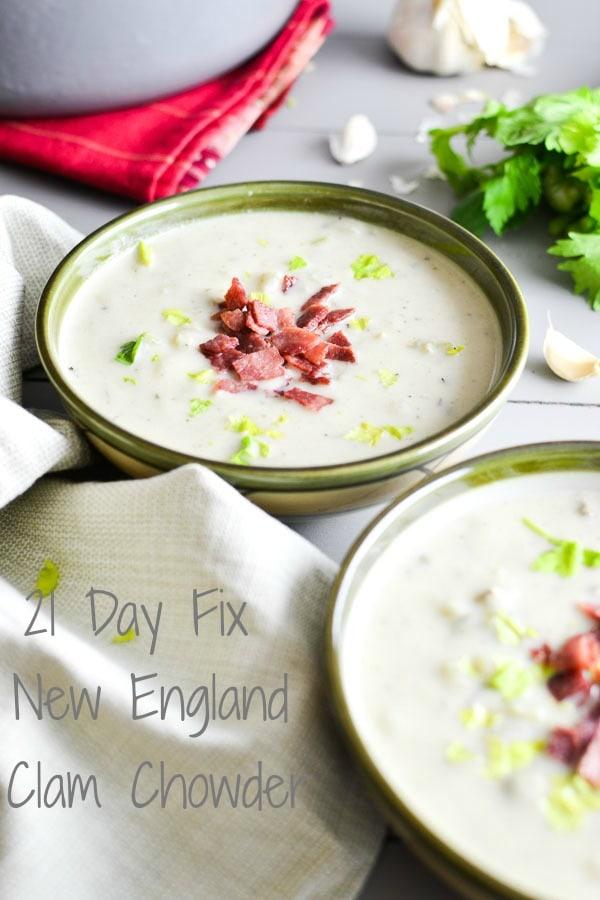 21 Day Fix New England Clam Chowder