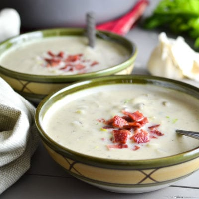 21 Day Fix New England Clam Chowder {Instant Pot | Stove Top}