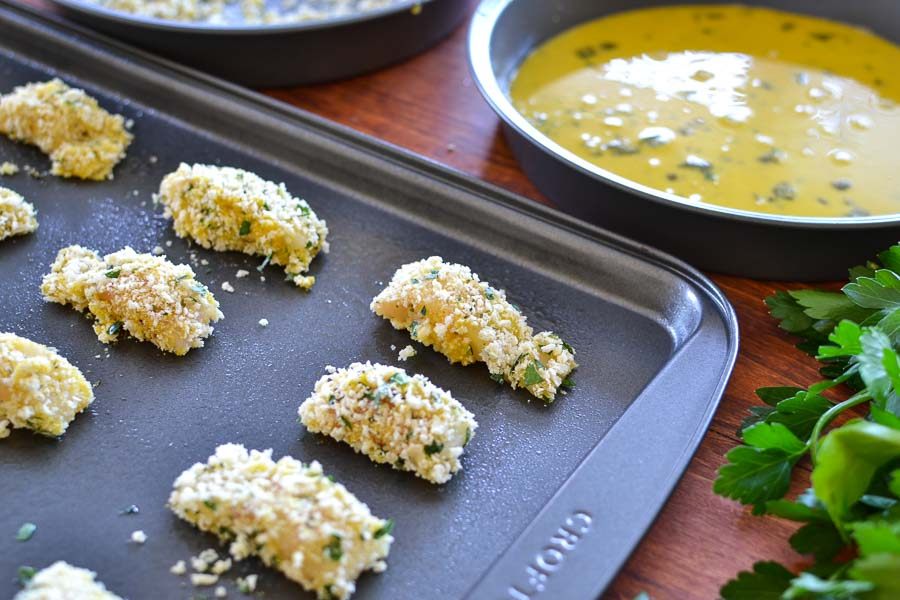 Crispy Fish Bites with Lemon-Shallot Dipping Sauce