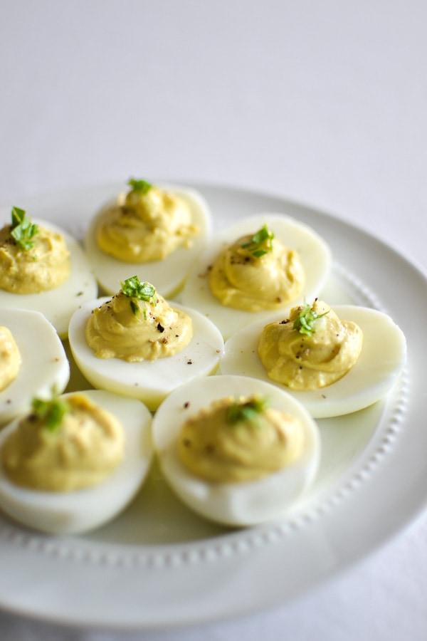 21 Day Fix Caesar Deviled Eggs