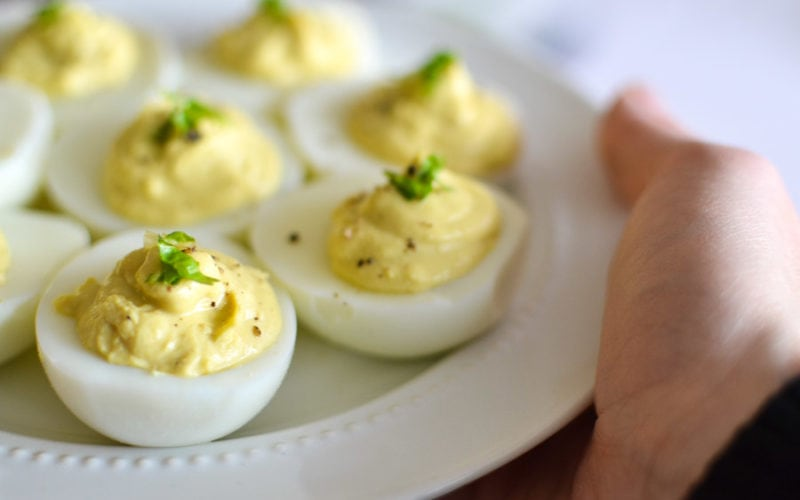 21 Day Fix Caesar Deviled Eggs