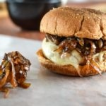 Balsamic Caramelized Onion Turkey Burger