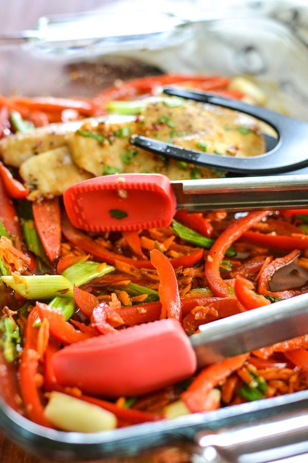 Baked Asian Tilapia Stir-Fry