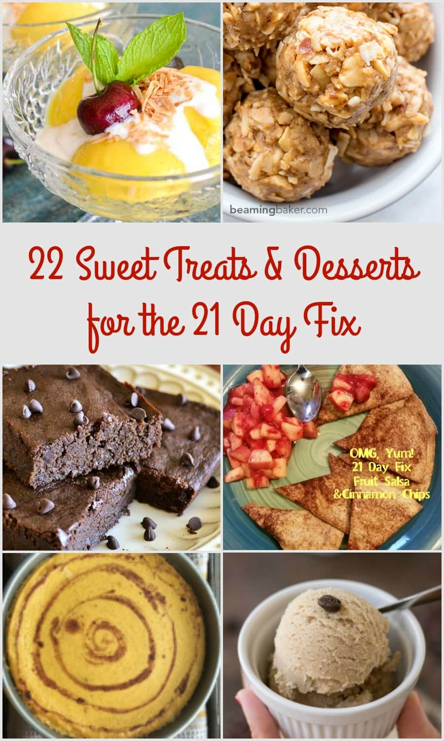 22 Delicious, Low-Sugar ways to curb your sweet tooth! Some of these 21 Day Fix sweet treats and desserts are SO easy, they don't even need a recipe.